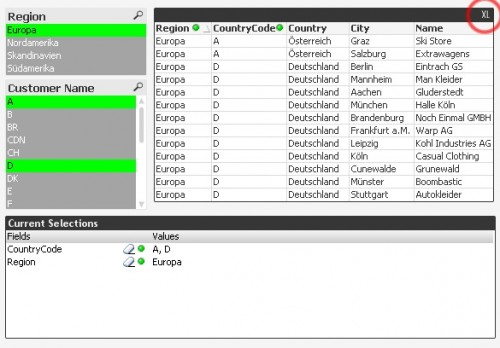 Exporting an object in QlikView to Excel