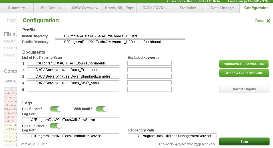 """QlikTip #42: Try the new """"QlikView Governance Dashboard"""""""