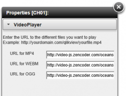 Properties of VideoPlayer  Extension